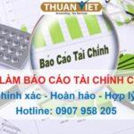Dịch vụ làm sổ sách kế toán, báo cáo tài chính tại TP.HCM